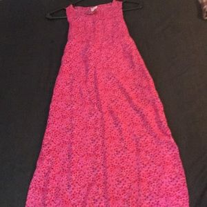 EUC Summer Girls sz10 pink floral print maxi dress